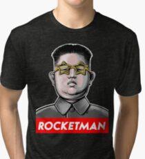Rocket man Kim Jong-Un Donald Trump RocketMan T Shirt Tri-blend T-Shirt