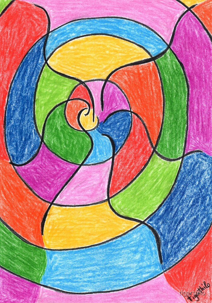2406 - Unusual Spiral presented with Colours von tigerthilo