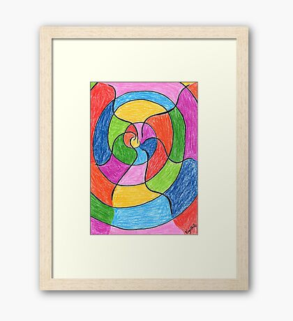 2406 - Unusual Spiral presented with Colours Gerahmtes Wandbild