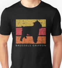 Brussels Griffon Retro Vintage Design Distressed Unisex T-Shirt