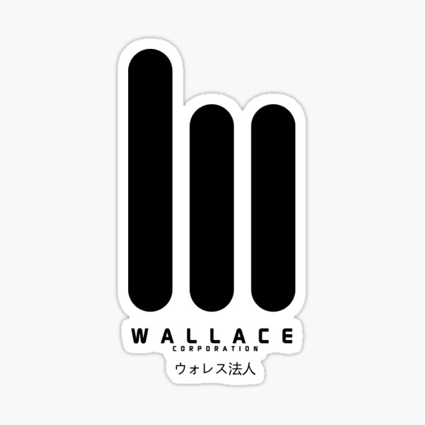 Wallace Corp. 2049 ウォレス法人Large Black Sticker