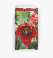Red Tulip Mania DPG150605a Duvet Cover