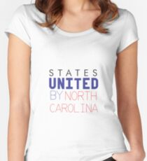 States United by North Carolina Women's Fitted Scoop T-Shirt