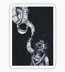 Astronaut and Diver Sticker