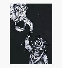 Lámina fotográfica Astronauta y buzo