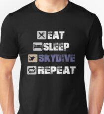 Eat Sleep Skydive Repeat. Unisex T-Shirt