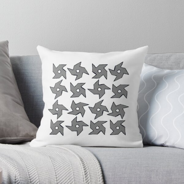 Throwing Stars, Throwing Stars & More Throwing Stars Throw Pillow
