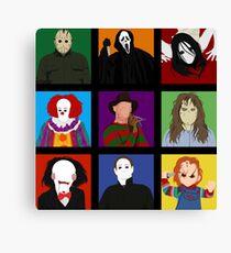 Halloween Impression Board Canvas Print