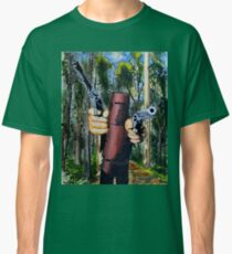 Ned Kelly - Ned in bush Classic T-Shirt