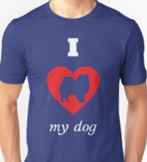 American Eskimo Dog - I Love My Dog Unisex T-Shirt