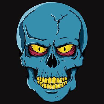 Blue Skull by FredzArt