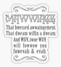 Mawwiage  Sticker