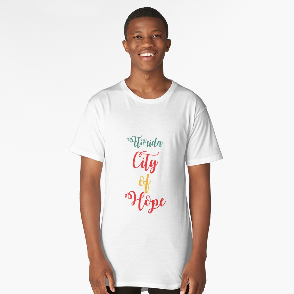 Florida City of Hope Long T-Shirt Front