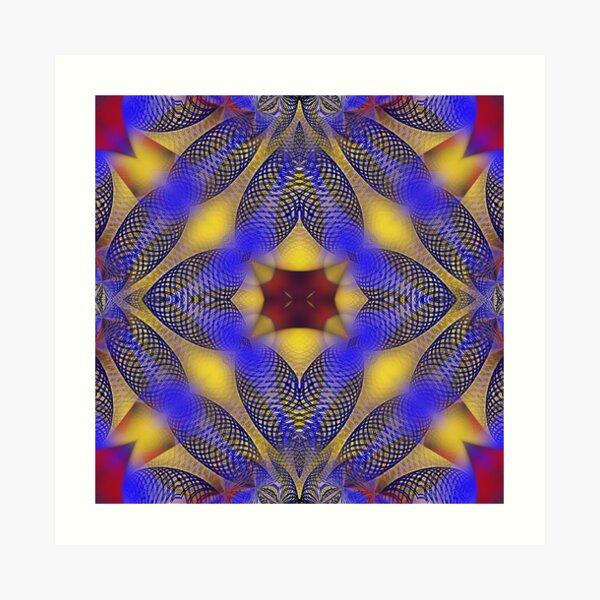 Kaleido-Mandala 4 Art Print