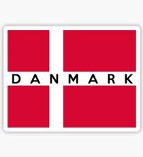 flag of denmark Sticker