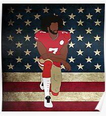 Colin Kaepernick American Flag Poster
