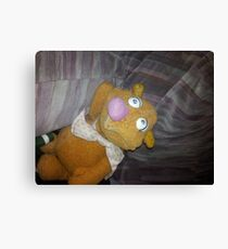Battered Fozzie Bear. Canvas Print