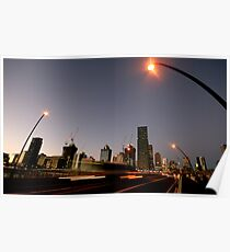 Rush Hour - Brisbane City Poster