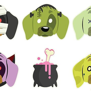 Halloween for dachshund Lover - icon set by mydachshund