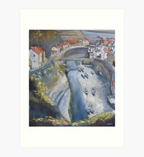 Looking Down, Staithes Art Print
