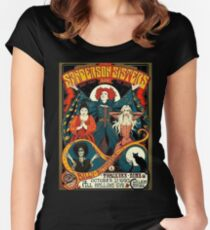 Sanderson Sisters Tour Poster T-Shirt Women's Fitted Scoop T-Shirt