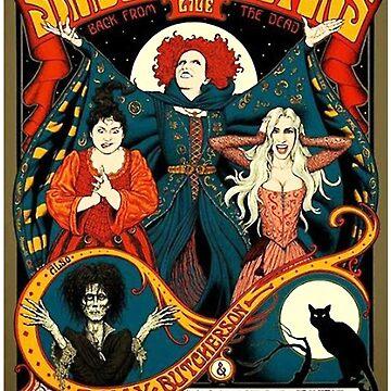 Sanderson Sisters Tour Poster T-Shirt by EverettRhodes