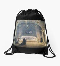 Nativity Painting 1833 Drawstring Bag