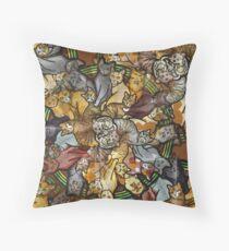 Cats forever - Furever Fall - Cat lover - Crazy Cat Print Throw Pillow