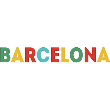 barcelona merch! barcelona sticker by youtubemugs