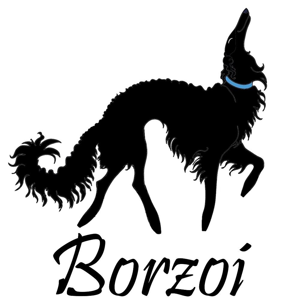 Black Borzoi Boy by Happy Dog Swag