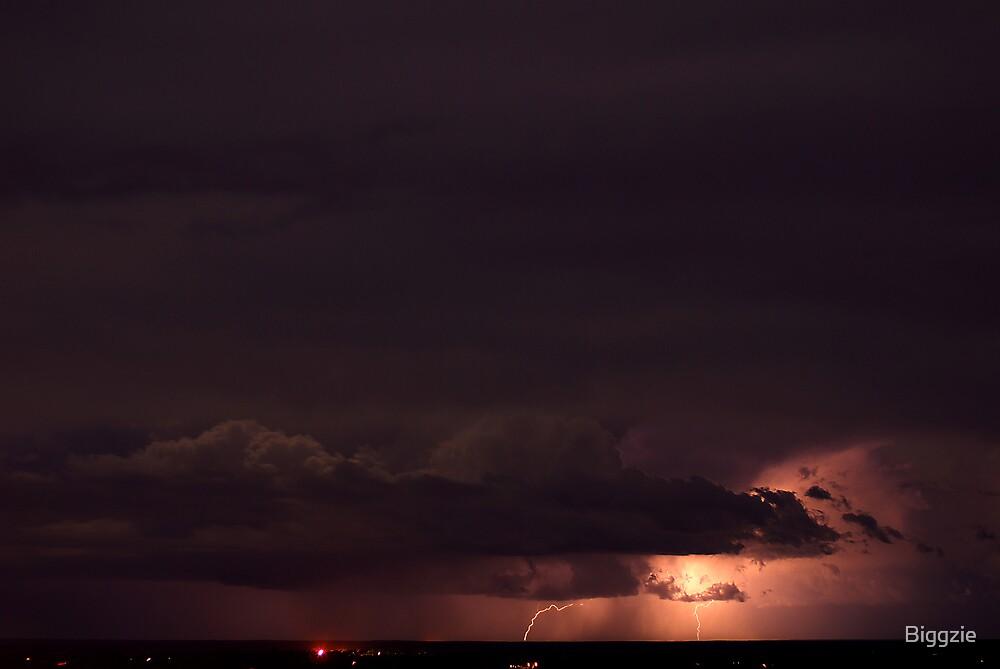 Lightning Storm Over Mt Gambier by Biggzie