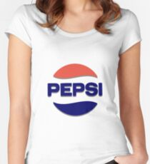 Pepsi Logo Women's Fitted Scoop T-Shirt