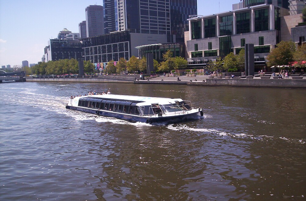 The Yarra River in the city of Melbourne  by lillian
