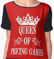 TV Game Show - TPIR (The Price Is...) Queen Of Pricing Games Women's Chiffon Top