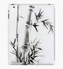 Bamboo stalk with leaves Sumi-e rice paper Zen painting artwork art print iPad Case/Skin