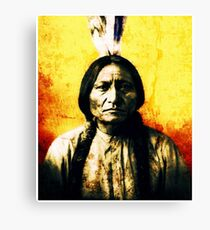 SITTING BULL-7 Canvas Print