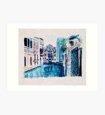 Venice as usual  Art Print