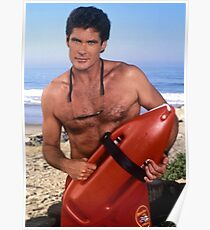 The Hoff - Baywatch Poster