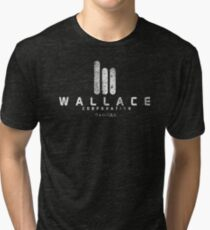 Wallace Corp. 2049 ウォレス法人 distressed white Tri-blend T-Shirt