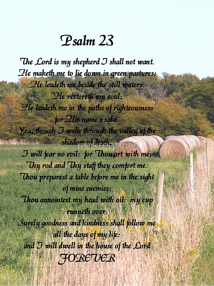 23rd Psalm by mnkreations