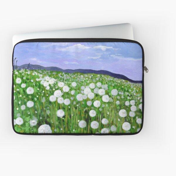 Dandelion Field Landscape Laptop Sleeve