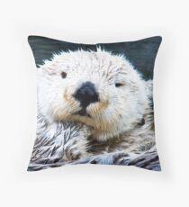 Otterly blissful Throw Pillow