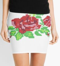 PIXEL ROSE (v.1) Mini Skirt