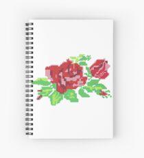 PIXEL ROSE (v.1) Spiral Notebook