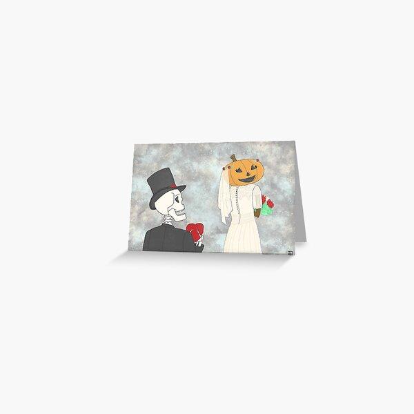 Jackie O'Lantern Gets Married Greeting Card