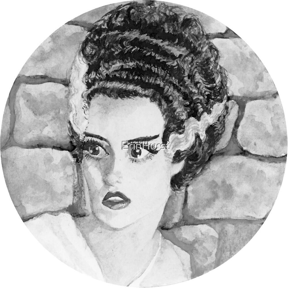 Bride of Frankenstein (Black and White) by ErinHurst