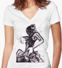 fLAMENCO sPLASH Women's Fitted V-Neck T-Shirt