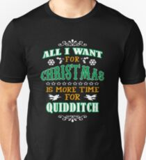 Christmas T Shirt Quidditch Gift - Xmas Gift for Quidditch fan T-Shirt