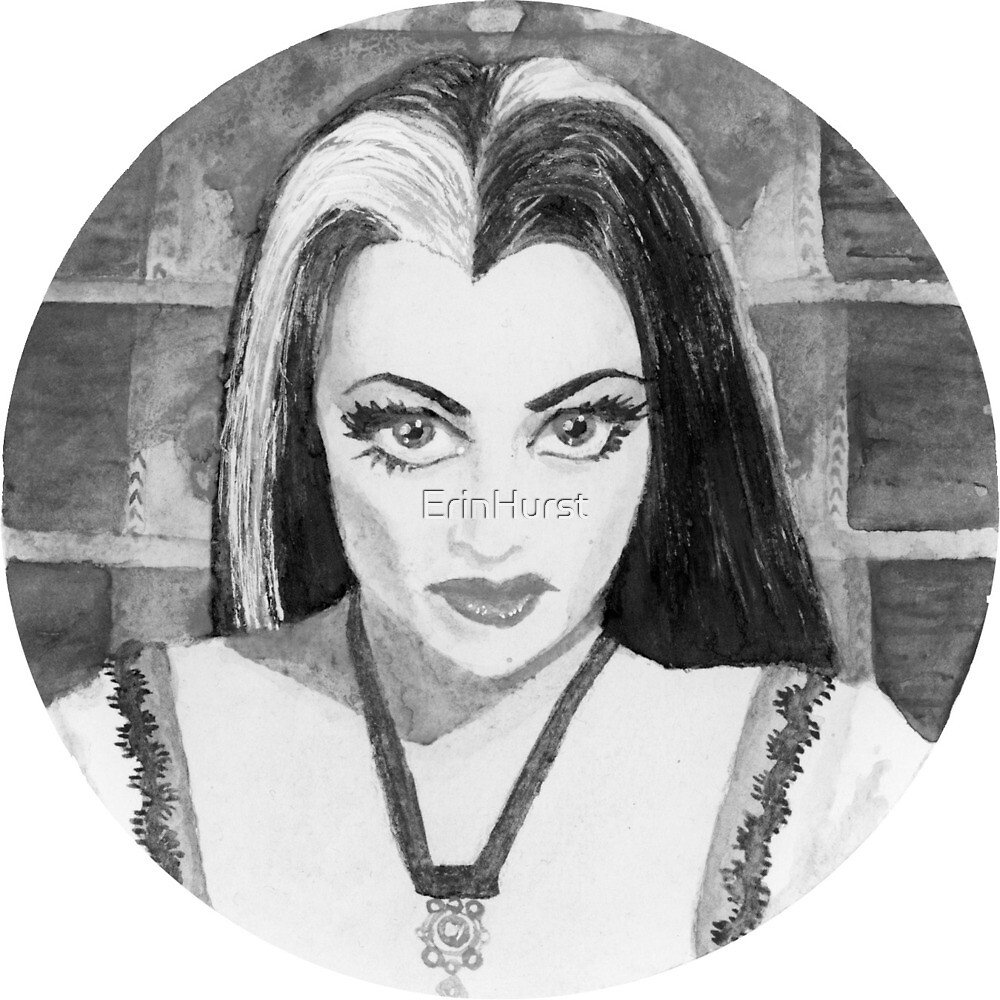 Lily Munster (Black and White) by ErinHurst