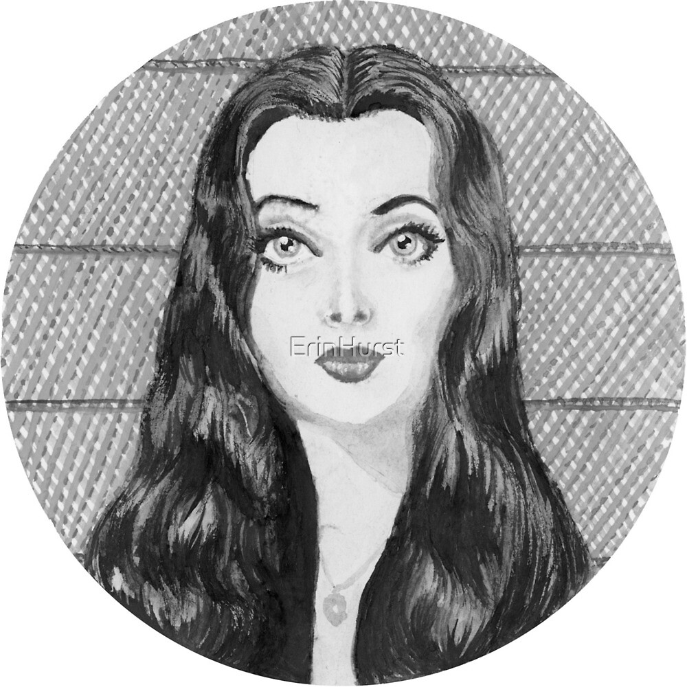 Morticia Addams 1964 (Black and White) by ErinHurst